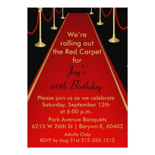 Hollywood Theme Invitations & Announcements | Zazzle