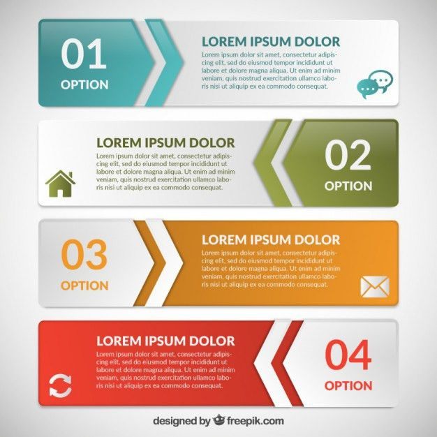 Infographic banners template Vector | Free Download
