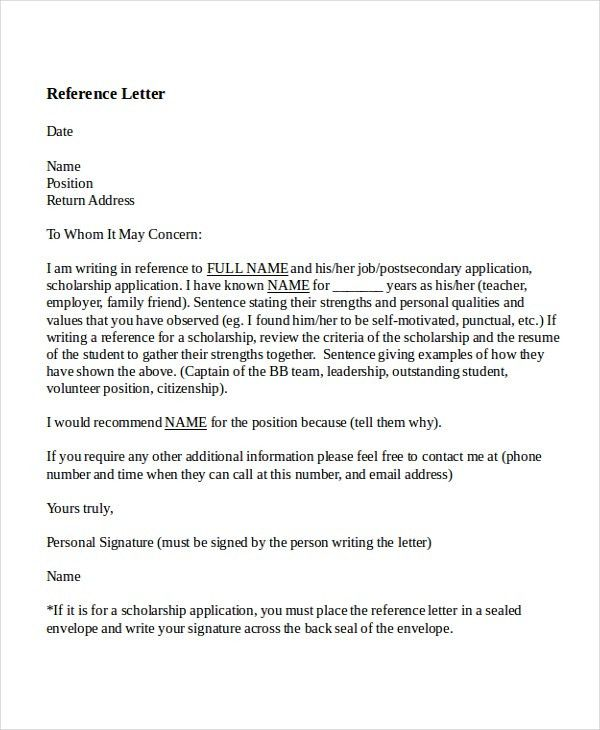 6+ Reference letter for teacher Templates - Free Sample, Example ...