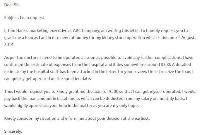 Loan Request Letter - Writing Professional Letters