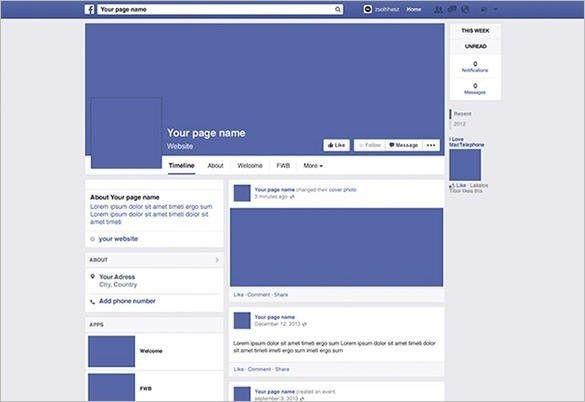Farcebook Template. facebook timeline template freebie by maros ...
