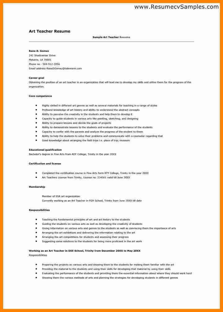Free resume teaching job