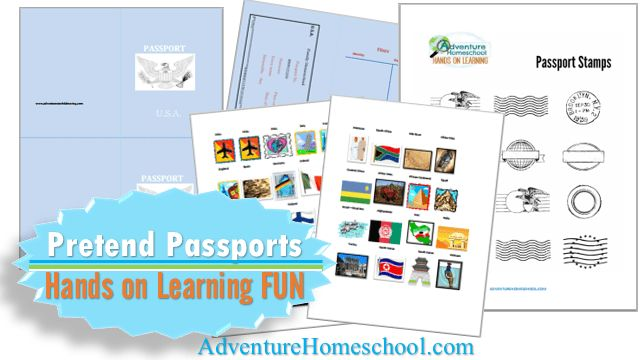 FREE Printable Passports and Country Stamps for Homeschooling Fun!