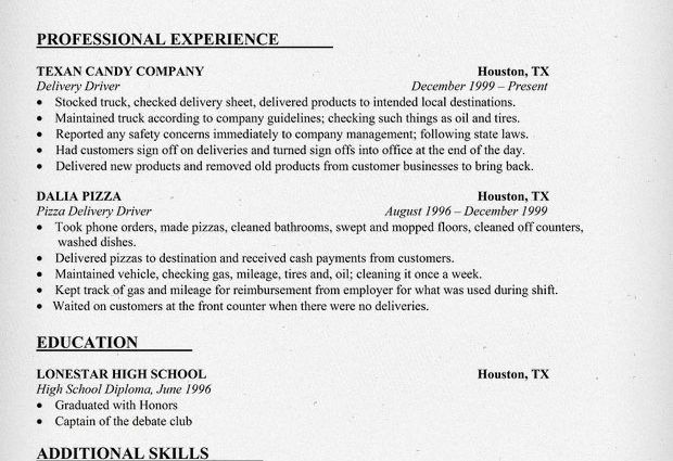 driver resumes delivery driver resume sample. delivery driver ...