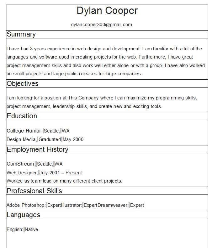 select template heavy. cv generated by onlinecvgenerator free cv ...
