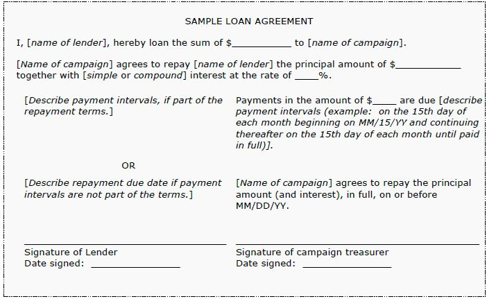 Campaign Loans & Loan Agreements | www.pdc.wa.gov