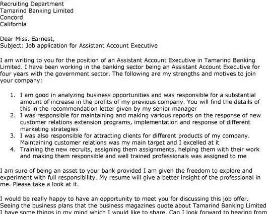 sample how to write assistant account executive cover letter ...