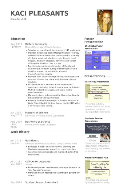 Nutritionist Resume samples - VisualCV resume samples database