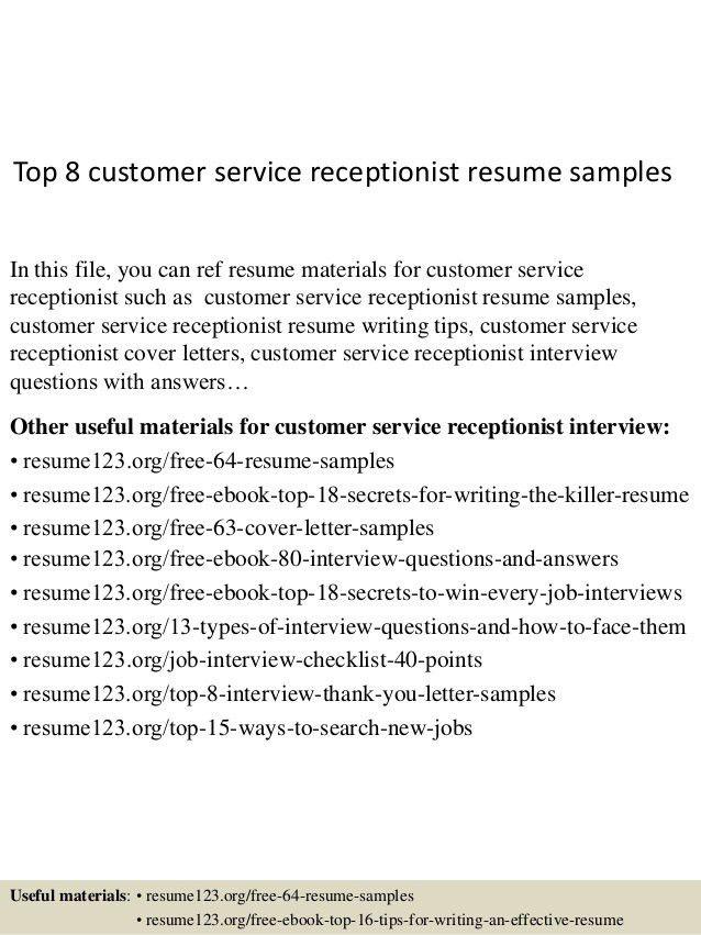 Medical Receptionist Job Description Resume For Receptionist Job .