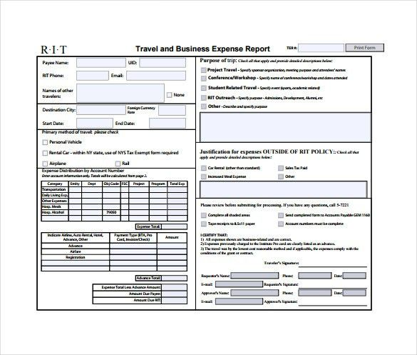 9+ Expense Sheet Templates – Free Sample, Example, Format Download ...