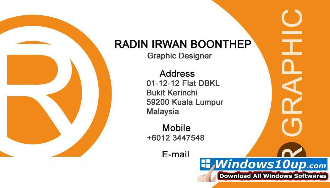 Download Name Card Design The best Business software Windows 8 ...