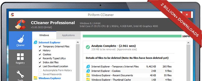 CCleaner - The world's most popular PC cleaner & optimization tool ...