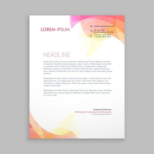 Abstract shapes letterhead template Vector | Free Download