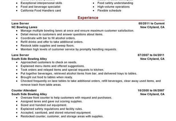 server resume objective by crysta moore - Writing Resume Sample ...