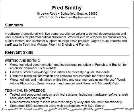 resume examples templates. skills on a resume example resume ...