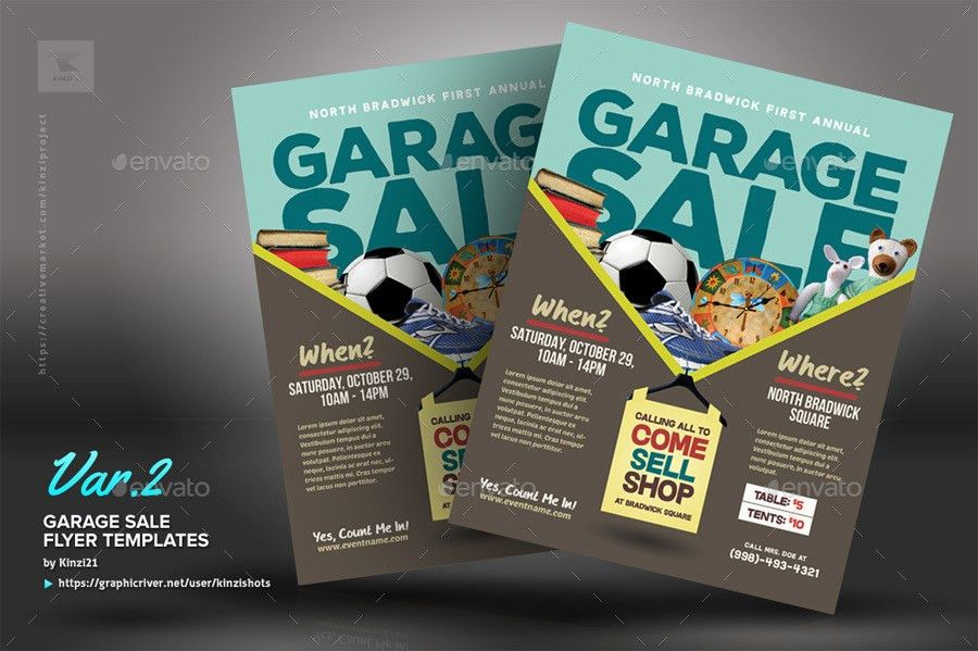 Garage Sale Flyer Templates by kinzishots | GraphicRiver
