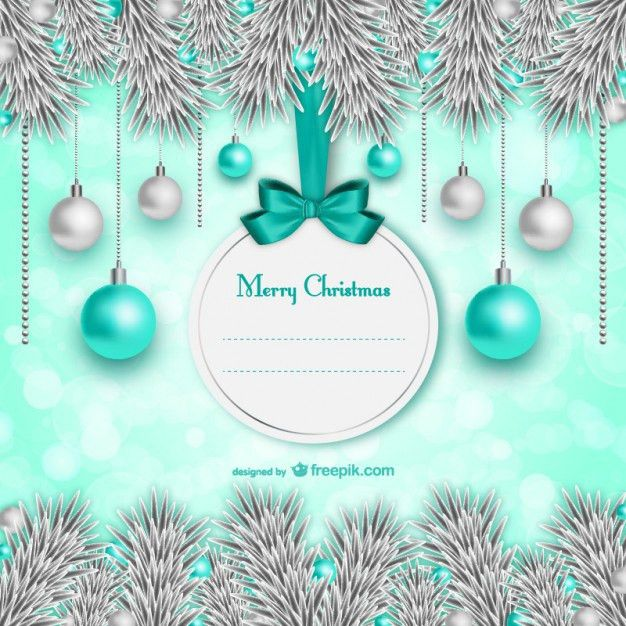 Elegant Christmas card template Vector | Free Download