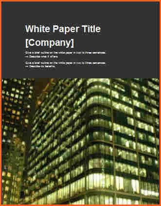 13 white paper template word - Budget Template Letter