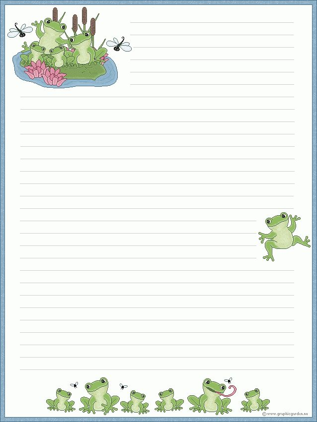 Free printable writing pages for kids | Printable Lined Writing ...