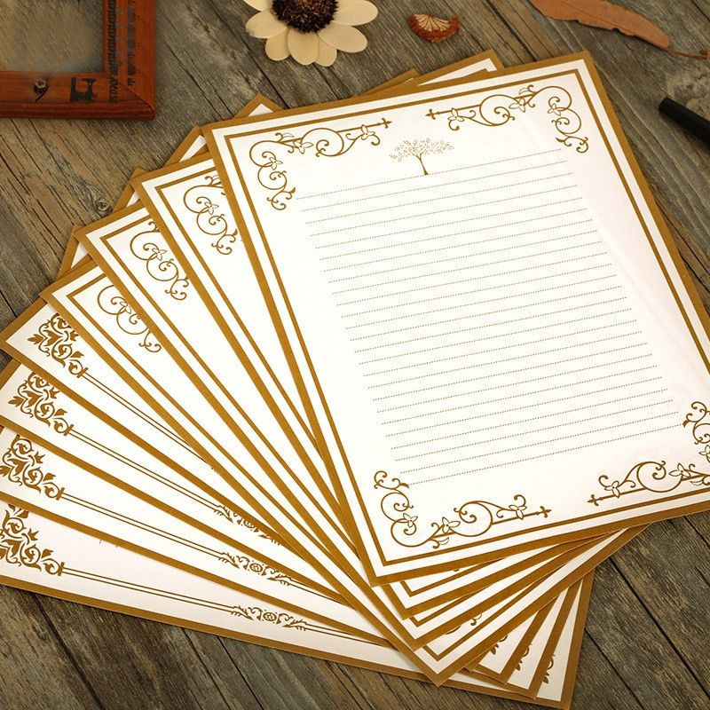 Online Buy Wholesale writing paper designs from China writing ...