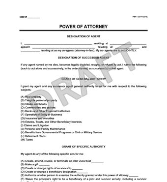 Power of Attorney Form | Create a Free Durable Power of Attorney ...