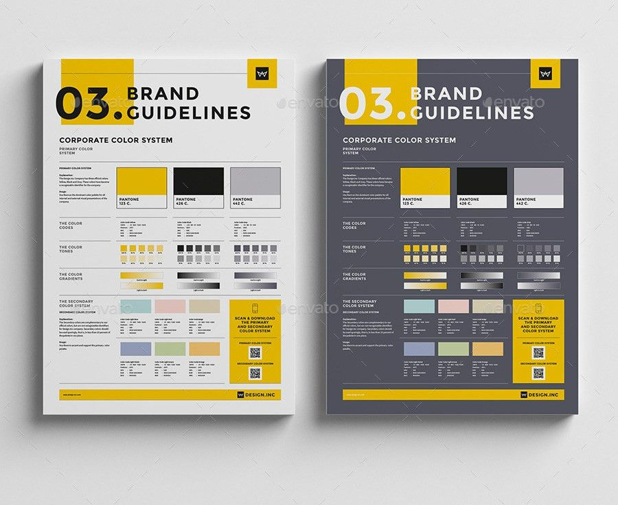 Brand Manual Template 3 Colors by egotype | GraphicRiver