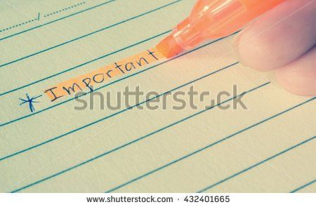 Important Word Writing Hand Draw Asterisk Stock Photo 427502248 ...