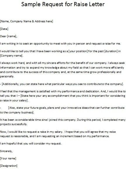 How To Write A Letter Asking For A RaiseBest Business Template ...