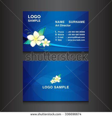 Blue Business Card Designcard Design Vector Stock Vector 336696674 ...