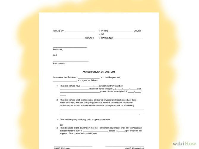 child support agreement letter child support agreement template ...