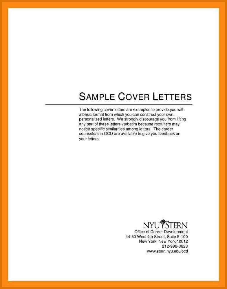 Short Sample Cover Letter
