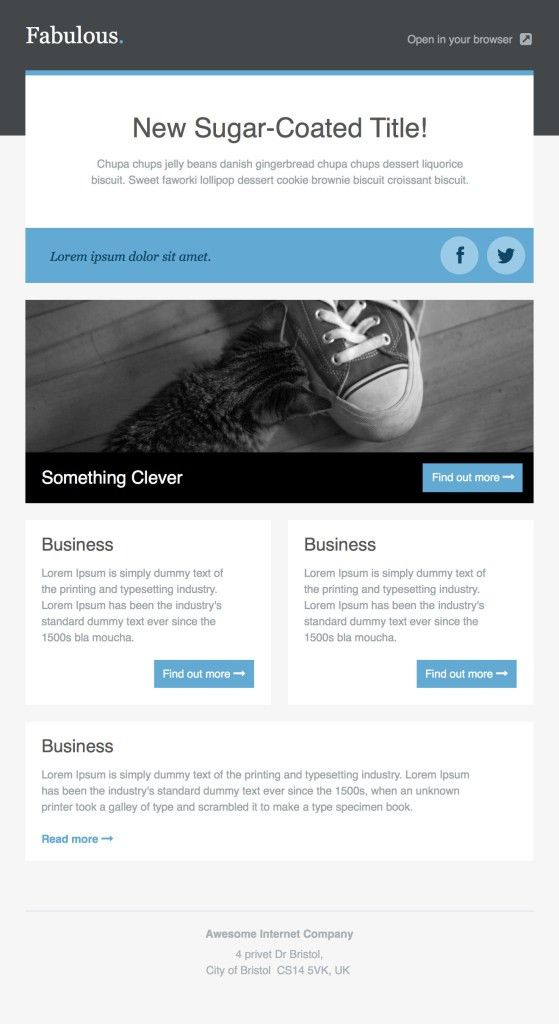 36+ Best Email Newsletter Templates - Free PSD & HTML Download ...