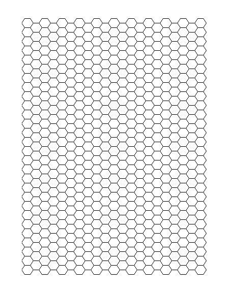 Hexagonal graph paper - Office Templates