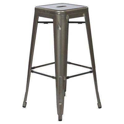 "Osp Designs Bristow 30"" Metal Barstools - Gunmetal Finish (Set of ..."