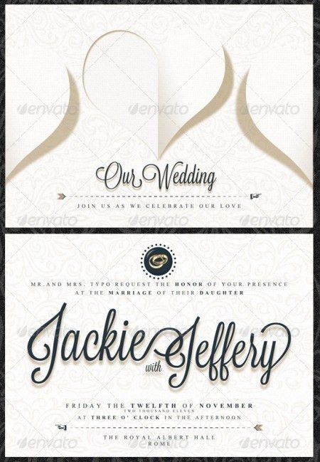 Wedding Information Card Templates - Wedding Invitation Sample