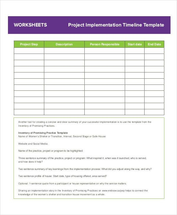 Project Timeline Example - 8+ Free Word, PDF Documents Download ...
