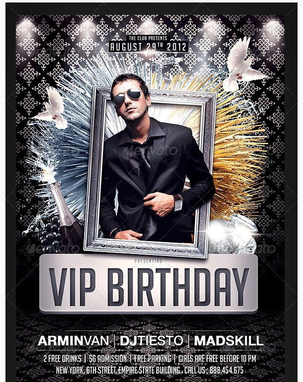 26 best Birthday Party Flyer Template images on Pinterest ...