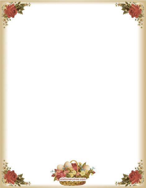 deer stationery template | free deer printable stationery for ...