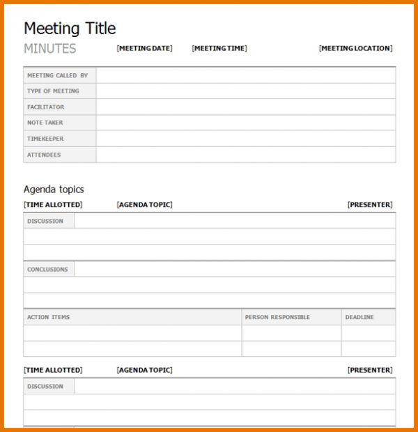 Meeting Template.Project Meeting Minutes Template.png | Scope Of ...