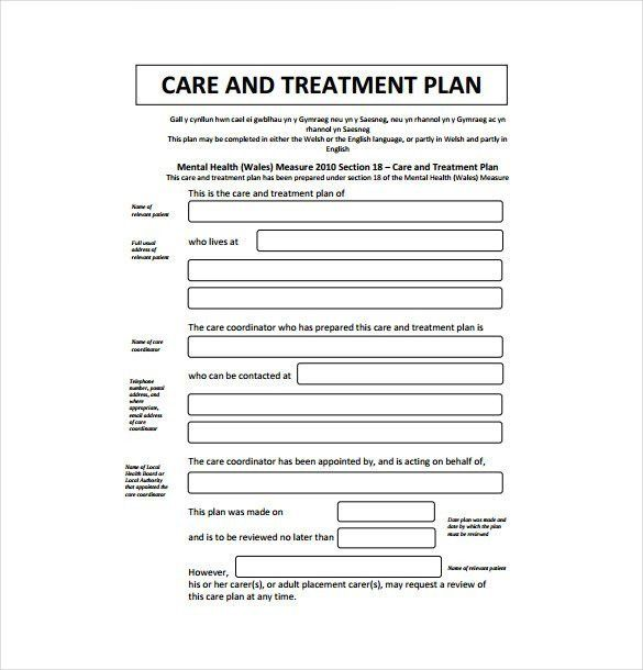 Psychotherapy Treatment Plan Template | Template Design