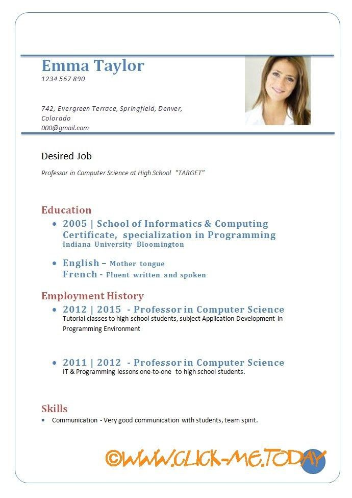 Cv Resume Format Download. Cv Resume Format Download Resume Sample ...