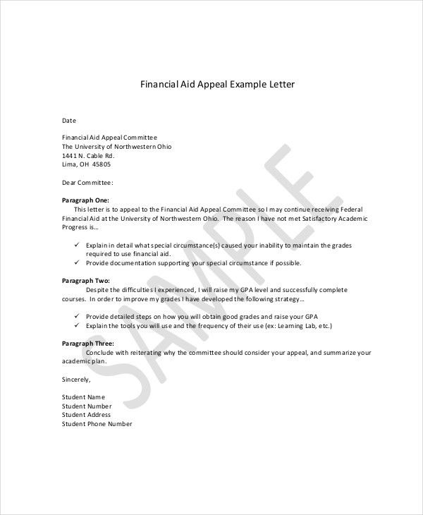 Appeal Letter Example - 10+ Free Word, PDF Documents Download ...