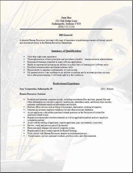 Job Resume Template Word