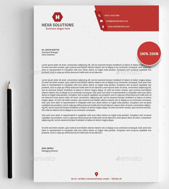 6+ Free Business Letterhead Templates For Word - Website ...