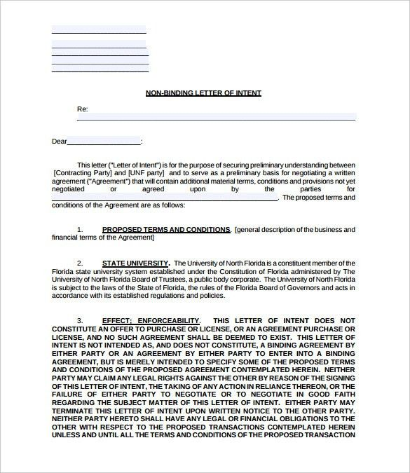 Letter of Intent – 15+ Free Word, PDF Documents Download! | Free ...