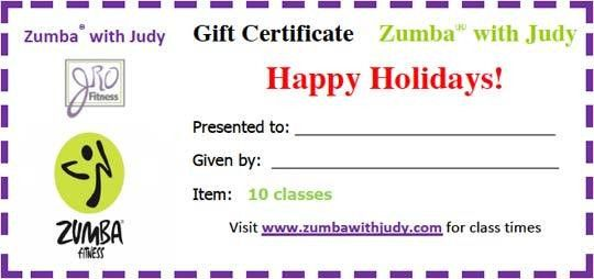 JRO Fitness Gift Certificate - Zumba® With Judy