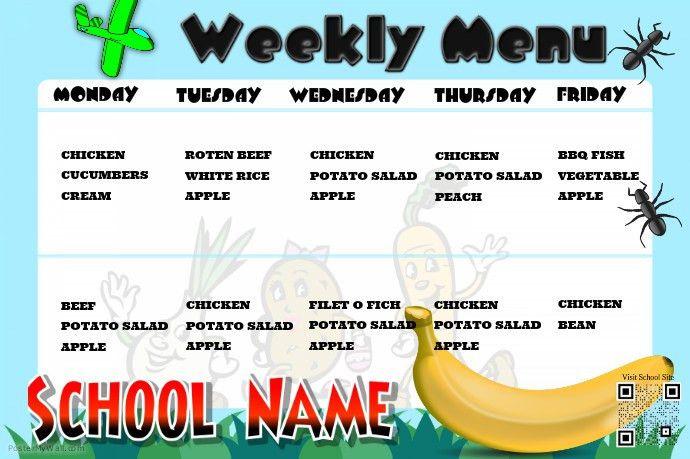 School Menu Template. Best 25+ School Lunch Menu Ideas On ...
