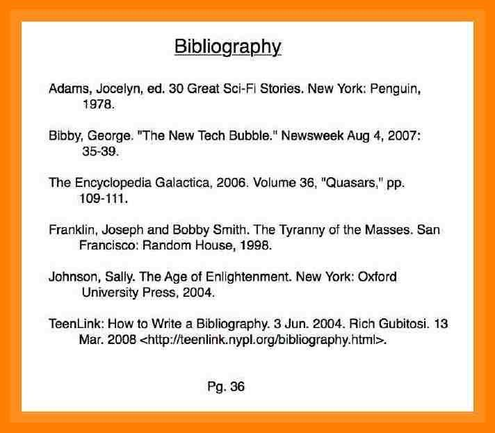 8+ bibliography writing format | protect letters