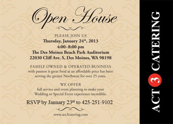 Business Open House Invitation Wording Ideas