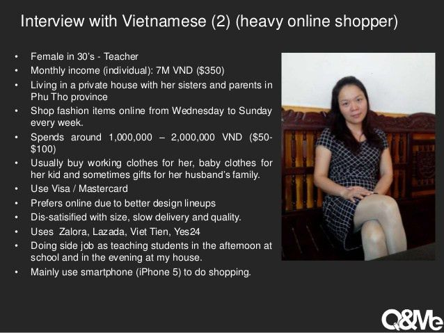 Online fashion shopping behaviour in VIetnam